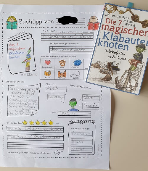 Lesejuniors Buchvorstellung und Meinung zu Die 7 magischen Klabauterknoten: Pikkofintes erste Reise