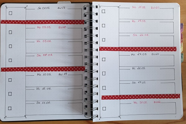 Book Bullet Journal Kalender